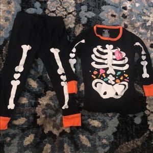 Carter's Glow in Dark skeleton PJs